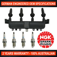 4x NGK Spark Plugs w/ Swan Ignition Coil Pack for Citroen Berlingo C3 TU3JP