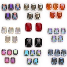26mm 5PCS Faceted Rectangle Square Crystal Glass Loose Spacer Beads DIY Jewelry