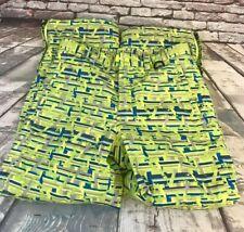 LL BEAN Womens Neon Green Blue Gray Ski Snow Snowboard Thinsulate Pants Size 12