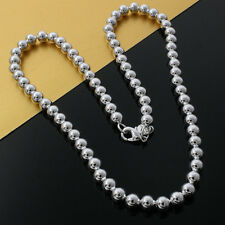Wholesale New Fashion Sterling1 Silver 6MM Hollow  Beads Necklace ZQN129