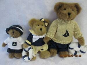 3 Boyd's Bears: YACHTLEY FAMILY,  Papa, Boy &  Laura Elizabeth w Lifesaver, VGC!