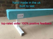 "finest quality gymnastics gym balance beam 8FT long 12"" high TURQUOISE NEW"