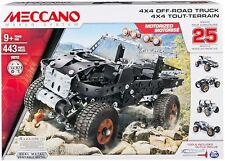 Meccano by Erector, 4x4 Off-Road Truck 25 Model Building Set, 443Piece, Stem Toy