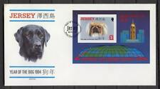 FDC D57 Jersey 1994 Block CV 6 eur Dog Pekynes Hong Kong
