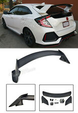 For 16-Up Honda Civic Hatchback Rear Trunk Wing Spoiler Type R Style Primered BK