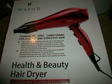 NEWWazor Ionic Ceramic Hair Dryer Professional Lightweight Salon Blow Dryer Red