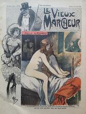 """LE VIEUX MARCHEUR 1904  N° 82  LE NU AU SALON 1904  """" SEZILLE DES ESSARTS"""""""