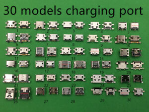 300pcs Lot 30 kinds Models Charging Port Charger Cell Phone Pad Smartphone kit