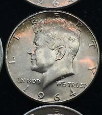 """2 Two1964 P  Kennedy Half Dollars 90/% SILVER US Mint Coins /"""" Uncirculated/"""""""