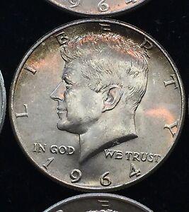 Roll Of (20) 1964  Kennedy Half Dollars $10 Face Value US 90% .