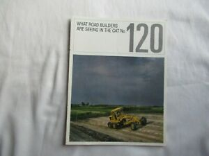 CAT Caterpillar 120 motor grader brochure