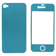 Blue Texture Skin Cover Sticker Wrap for iPhone 4 / 4S