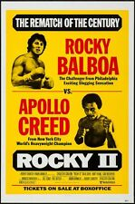 ROCKY 2 one sheet movie 27x41 poster Boxing style SYLVESTER STALLONE RARE NM