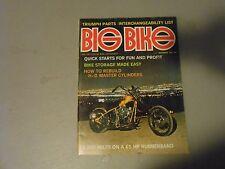DECEMBER 1972 BIG BIKE MAGAZINE,TRIUMPH PARTS LIST,HARLEY MASTER,CYLINDERS,AMA