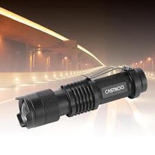 Mini CREE Q5 7W 3500Lm LED Flashlight Torch Lamp Adjustable Focus Zoom Light MT