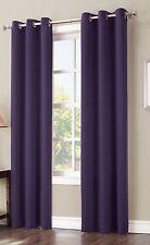"""Sun Zero Hayden Grommet Blackout Window Panel, 40"""" x 84"""", Blackberry Purple"""
