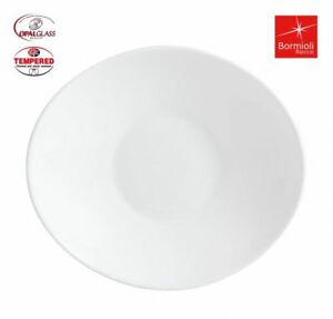 6x Bormioli Rocco  White Prometeo Oval Shaped DINNER PLATES 27X24cm
