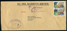ST. KITTS-NEVIS: (17804) Premier to Governor cancel/cover