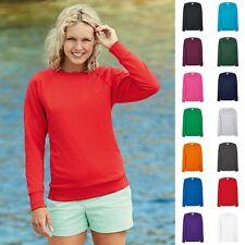 1a Damen Lady Fit Sweatshirt Sweat Raglan Pullover Fruit of the loom Lightweight