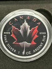 2017 1 Oz Silver CANADIAN $5 MAPLE LEAF FLAG Coin WITH BOX AND COA..
