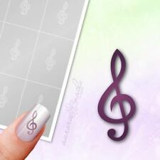 Schablonen für Airbrush und Nailart M361 Musik Notenschlüssel Noten Note 80x