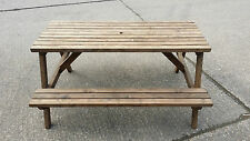 PICNIC TABLE WOODEN PUB CAFE RESTAURANT GARDEN  OUTDOOR STRONG & STURDY 6 SEATER