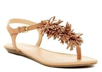 REPORT Womens 'Landry' Tan Ankle Strap Flat Sandals Sz 7.5 - 10