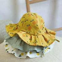 Baby Girls Sun Hat Chin Strap Summer Sun Hat Toddler Boys Girls Beach Bucket Cap