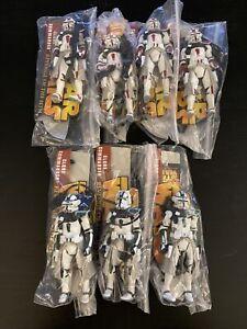 (7) Star Wars Clone Commander Lot Army Builders Read