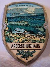 Arberschutzhaus used badge mount stocknagel hiking medallion G5440