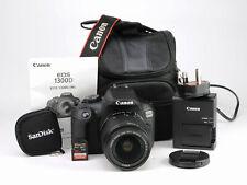 Canon EOS 1300D DSLR Camera + Canon 18-55mm IS II Lens Kit - 510 Shots +1080p HD
