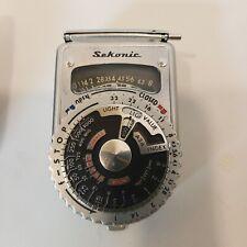 Vintage Sekonic L-6 Selenium Light Meter In Leather Case Camera Equipment