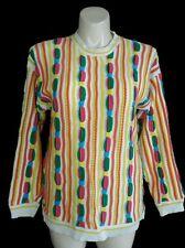 SWEATER Clothes women men S M multicolor stripe crew neck tunic sweater unique