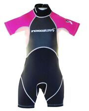 PINK NEW BABY WETSUIT GIRLS SHORTY 2-3 years CHILDRENS KIDS SHORTIE Swimming SEA