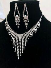 Diamante Wedding, Bridal or party Necklace Set