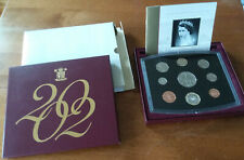2002 Great Britain 9 Coin Deluxe Proof Set w/Queen Elizabeth £5 Commemorative Uk