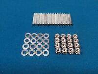 Cosworth YB Aerotight Stainless Nuts & HT Steel Stud Kit Escort RS Sierra