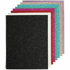 Glitter Cardstock Paper for Diy Crafts (8.5 x 11 In, 24 Sheets)