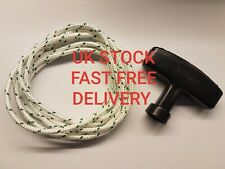 Quality Lawn Mower Starter Pull Cord And Starter Handle 2 Metres x 4 mm.