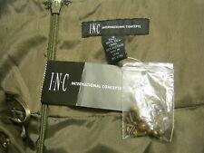 I.N.C. INTERNATIONAL CONCEPTS Pleated Full Skirt,SZ 2,Camo,Beaded,100% Silk NEW