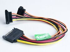 NEW 1 x SATA 15-Pin to 2 x SATA 15-Pin Y Splitter Power Connector ---6 Inches