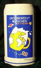 2001 Munich Oktoberfest Stein - 1 Liter - Stocked in the USA by Beer Gear - NIB