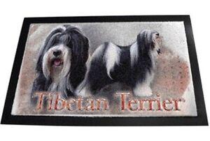 Designer Fussmatte Tibetan Terrier Tibet Terrier 80x60 Hundeteppich Fussabtreter