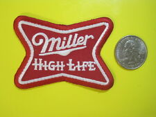 BEER PATCH MILLER HIGH LIFE BEER SMALL NEW LOOK! BUY NOW! GREAT FOR CAP, SHIRT