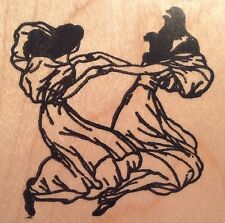 Ladies Dancing Party Dresses Rubber Stamp Rubber Poet 552-E