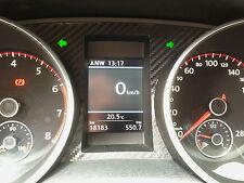 Golf 6 MK VI R GTI GTD TSI R line Tacho Kombiinstrument Carbon Aufkleber Sticker