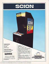SCION By CINEMATRONICS 1984 NOS VIDEO ARCADE GAME MACHINE SALES FLYER BROCHURE