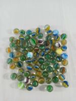Vintage Cat's Eye Multi-Colored Transparent Swirls Marbles & Shooters Lot of 78