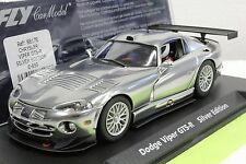 FLY E650 DODGE VIPER GTS-R SILVER LIMITED EDITION NEW 1/32 SLOT CAR IN DISPLAY