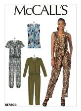 M7203 Misses' Drop-Waist Romper and Jumpsuit Sizes 6-14 McCall's Sewing Pattern